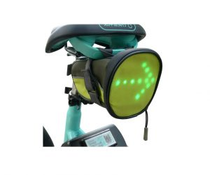 Underseat Bag w/Reflective Turn Signal Direction Indicator Light
